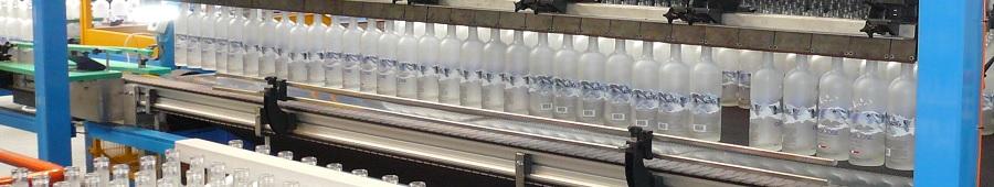 Cuisson de bouteilles en verre après traitement de surface