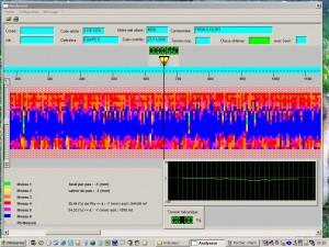 Poste de profilométrie laser sur pièces textiles - écran automate